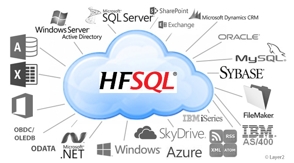Connect 100+ IT-Systems with HFSQL