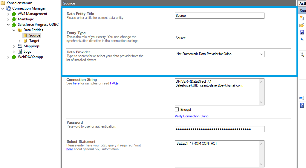 Step 2 Salesforce integration source setup