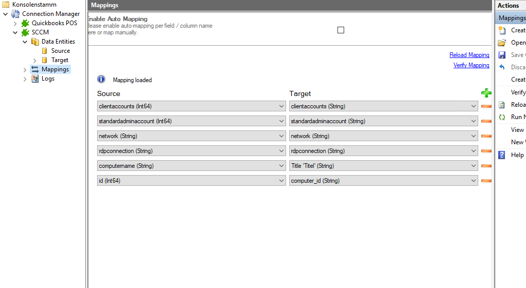 Step 4 SSCM integration mapping